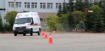 Kırşehir: - Kırşehir'de, 112 şoförleri eğitim alıyor