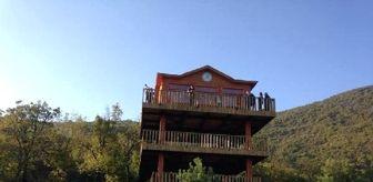Bartın: Küre Dağları Milli Parkı'ndaki 3 katlı Seyir Terası'na ziyaretçi akını