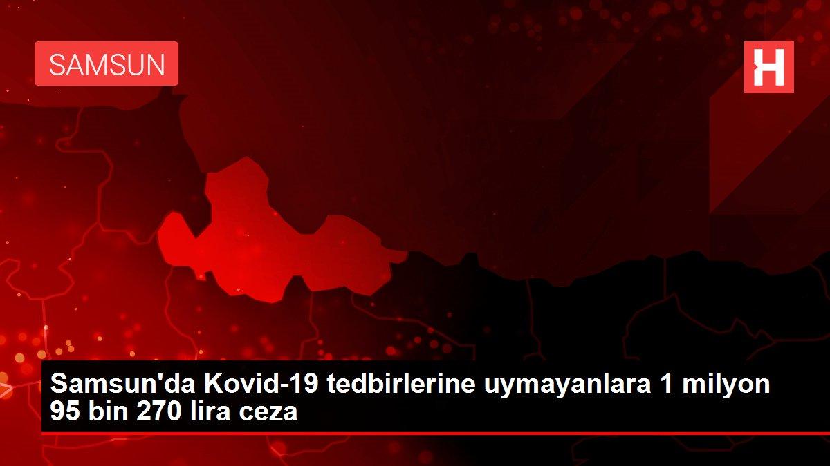 Samsun'da Kovid-19 tedbirlerine uymayanlara 1 milyon 95 bin 270 lira ceza