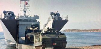 Milli Savunma Bakanlığı: 'Amfibi Görev Grup Komutanlığı bağlısı gemiler, Harekata Hazırlık Eğitimleri icra etti'