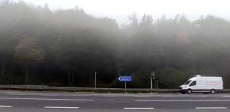 Düzce: Bolu Dağı'nda yoğun sis etkili oluyor