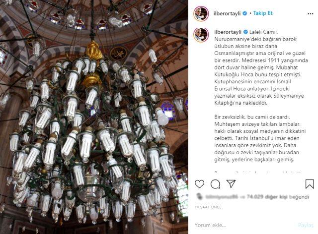 Camideki görüntü İlber Ortaylı'yı kızdırdı: Bu ne zevksizlik