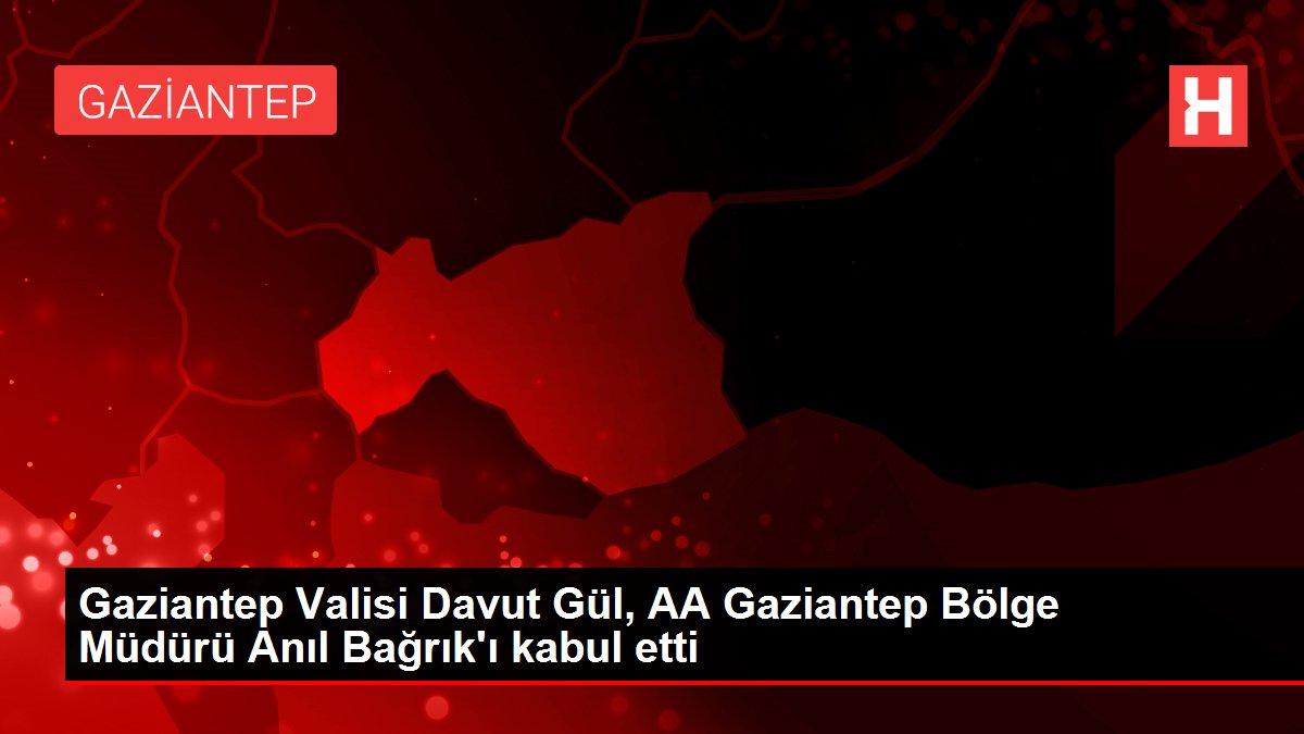 Gaziantep Valisi Davut Gül, AA Gaziantep Bölge Müdürü Anıl Bağrık'ı kabul etti