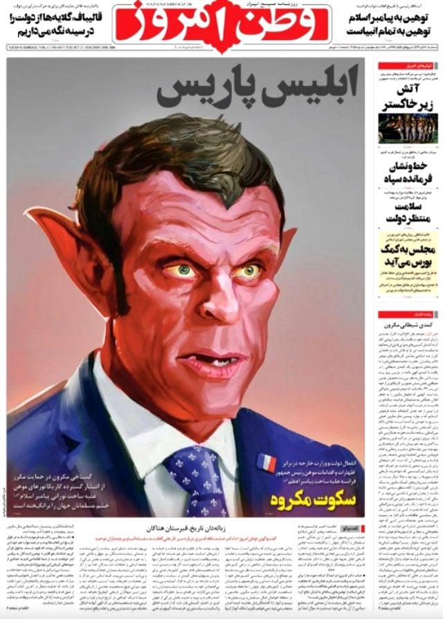 İran medyası Fransa Cumhurbaşkanı Macron'u şeytana benzetti: Paris İblisi