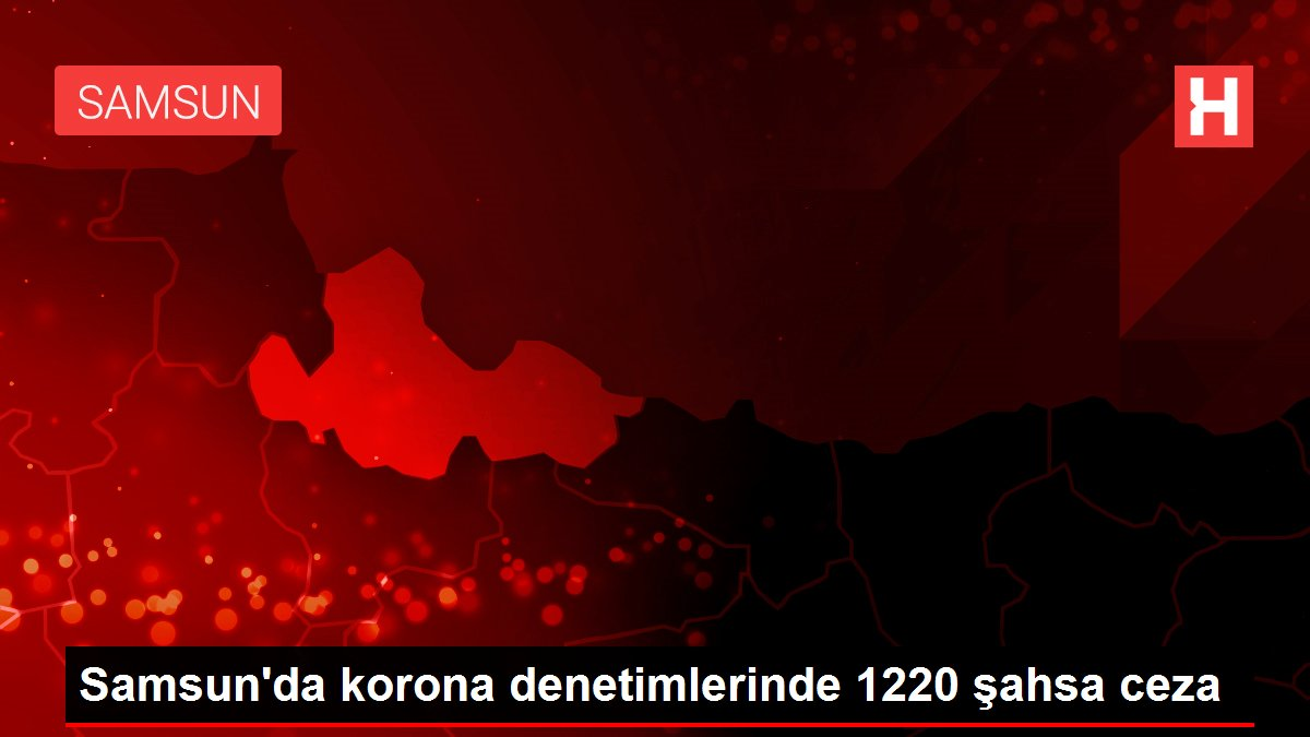 Samsun'da korona denetimlerinde 1220 şahsa ceza
