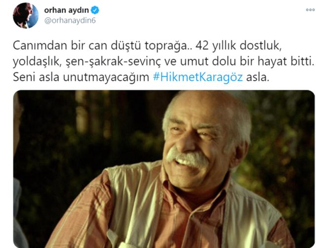 Usta tiyatrocu Hikmet Karagöz hayatını kaybetti