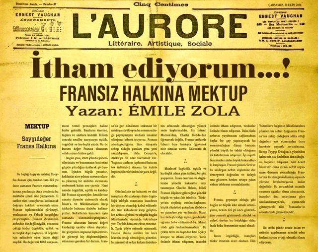 İletişim Başkanı Altun, Emile Zola'nın 122 yıllık mektubu ile Fransızlara seslendi