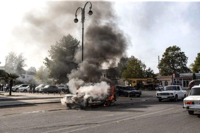 Karabağ'da ateşkesi bozan Ermenistan'dan intikam alındı