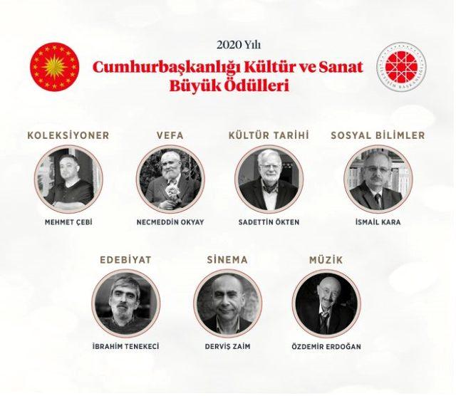 2020 Yılı Cumhurbaşkanlığı Kültür ve Sanat Büyük Ödülleri'ne layık görülen isimler belli oldu