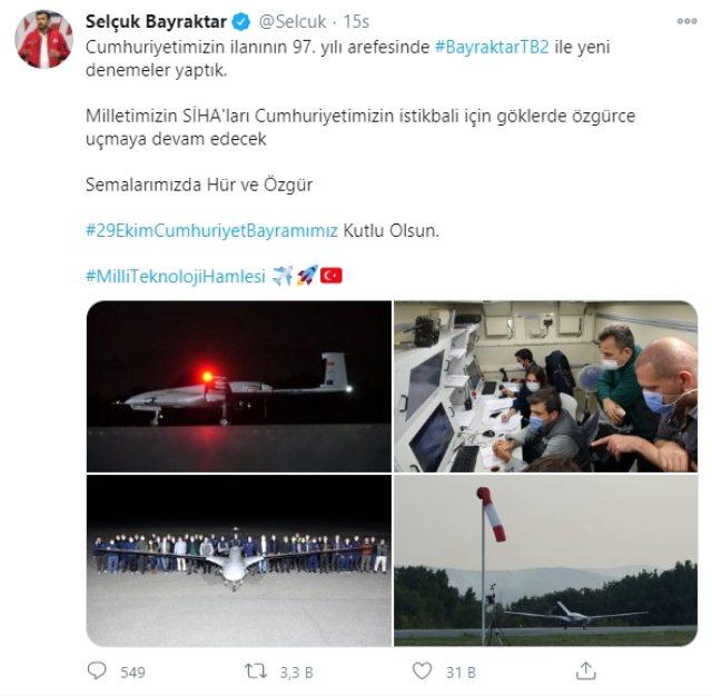 Kanada'nın silah ambargosu sonrası SİHA'lar için harekete mi geçildi? Bayraktar'dan dikkat çeken paylaşım