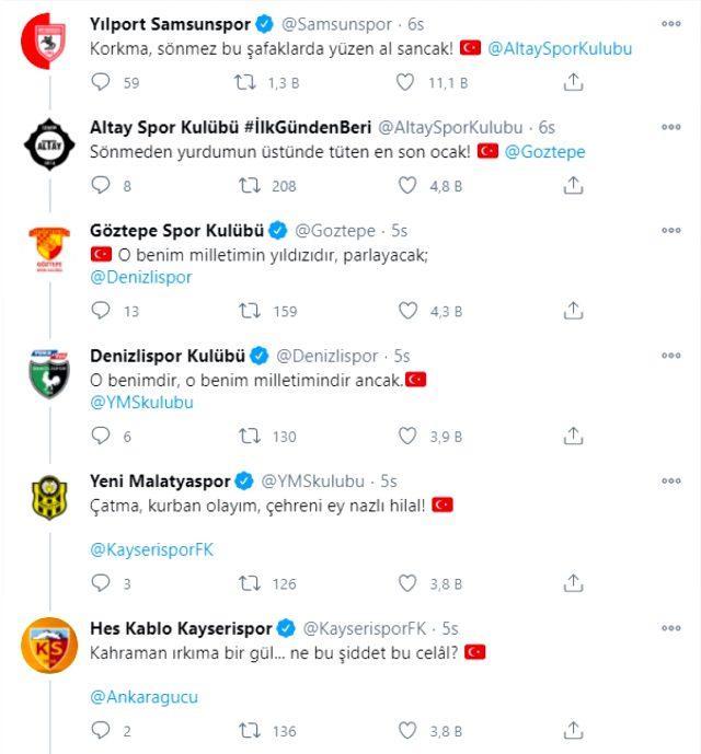 Kulüplerin sosyal medyadan İstiklal Marşı paylaşımları büyük beğeni topladı