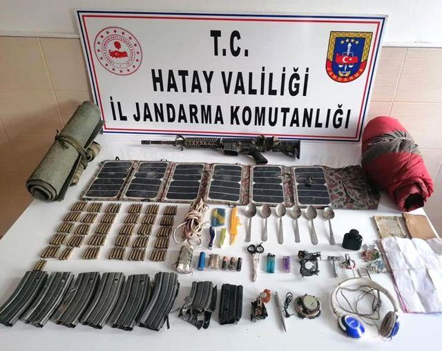 Son dakika haberi | Amanoslar'da terör örgütüne ait piyade tüfeği ele geçirildi