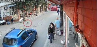 Cumartesi: Bursa'da, taksi dolmuşun kediyi ezme anı kamerada