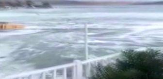 İzmir deki depremde denizde meydana gelen girtap kameralara ...