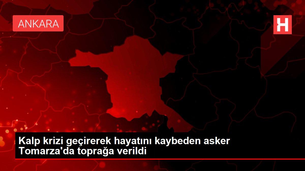 Kalp krizi geçirerek hayatını kaybeden asker Tomarza'da toprağa verildi