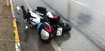 Renault: Otomobil ile motosiklet çarpıştı: 1 yaralı