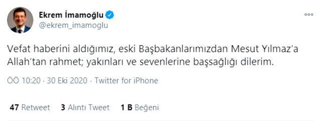 Son Dakika! Eski başbakanlardan Mesut Yılmaz hayatını kaybetti