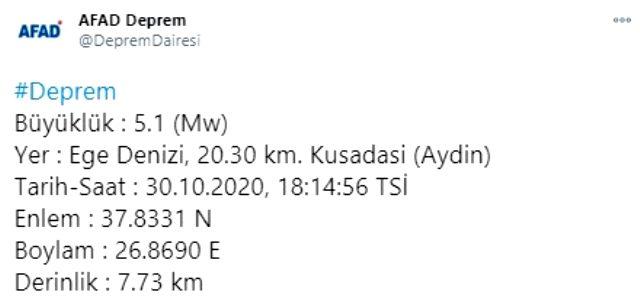 Son Dakika: İzmir'in ardından Kuşadası 5.1 ile sallandı