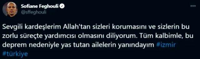 Süper Lig'in yıldızları deprem paylaşımlarıyla Türkiye'nin acısına ortak oldu