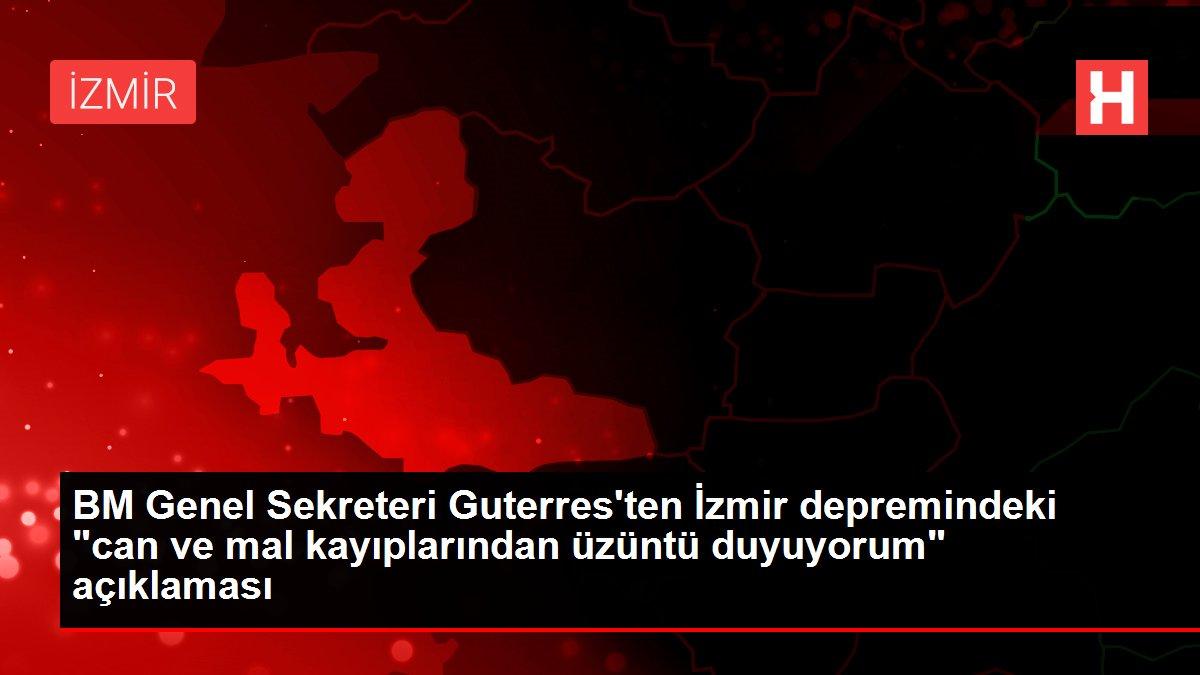 BM Genel Sekreteri Guterres'ten İzmir depremindeki