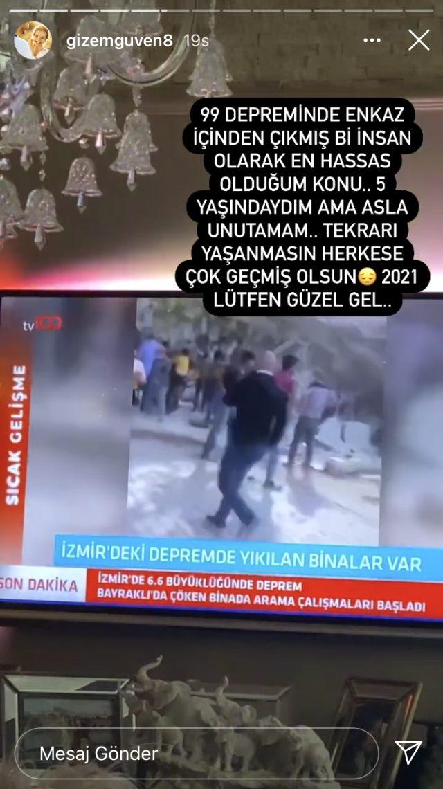 İzmir depremi yıllar öncesine götürdü! Gölcük depreminde enkazdan çıkarılan Gizem Güven'de duygusal paylaşım