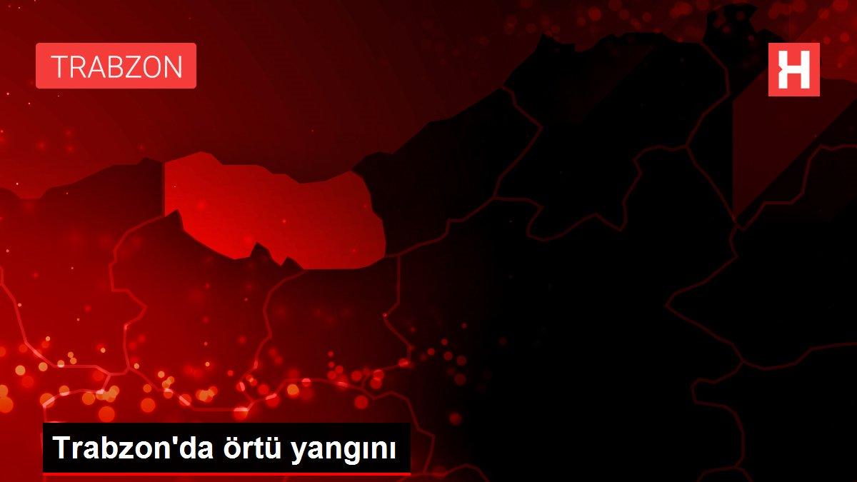 Son dakika: Trabzon'da örtü yangını