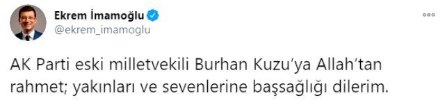 AK Parti eski milletvekili Burhan Kuzu, koronavirüsten hayatını kaybetti