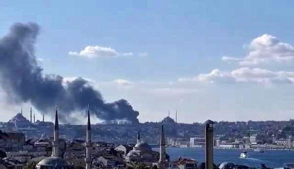 İstanbul Üniversitesi Çapa Tıp Fakültesi Hastanesi inşaatında yangın çıktı