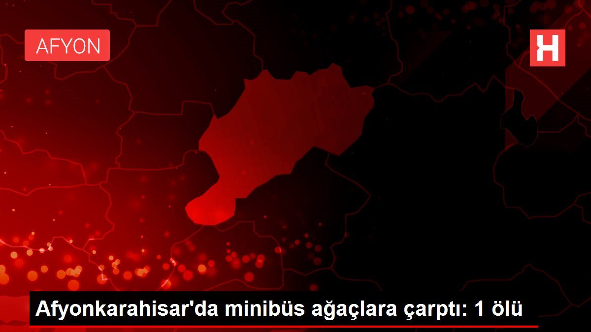 Afyonkarahisar'da minibüs ağaçlara çarptı: 1 ölü