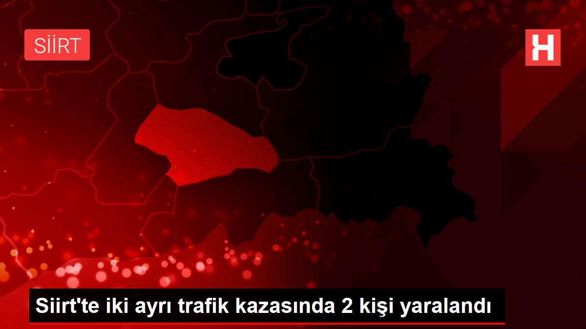 Son dakika haber   Siirt'te iki ayrı trafik kazasında 2 kişi yaralandı