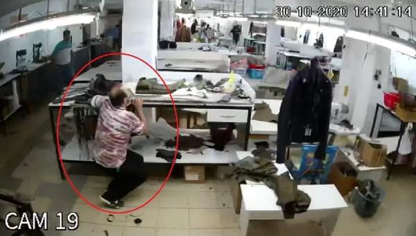 Son dakika haberleri! Depreme tekstil atölyesinde yakalanan çalışanların kaçtığı ve eşyaların sallandığı anlar kamerada