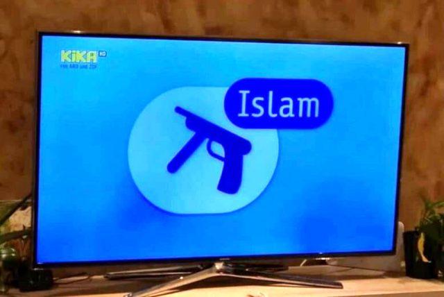 Almanya'da yayın yapan çocuk kanalından skandal paylaşım! İslam'ı asık suratlı insanlar ve silahlı teröristle bağdaştırdılar