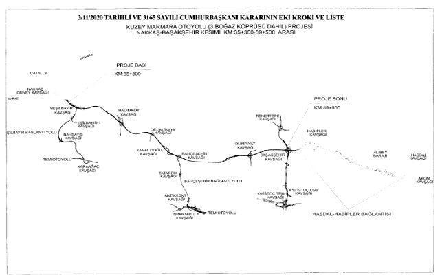 Cumhurbaşkanı Erdoğan'ın imzasıyla İstanbul'un 5 ilçesindeki bazı taşınmazlar acele kamulaştırılacak