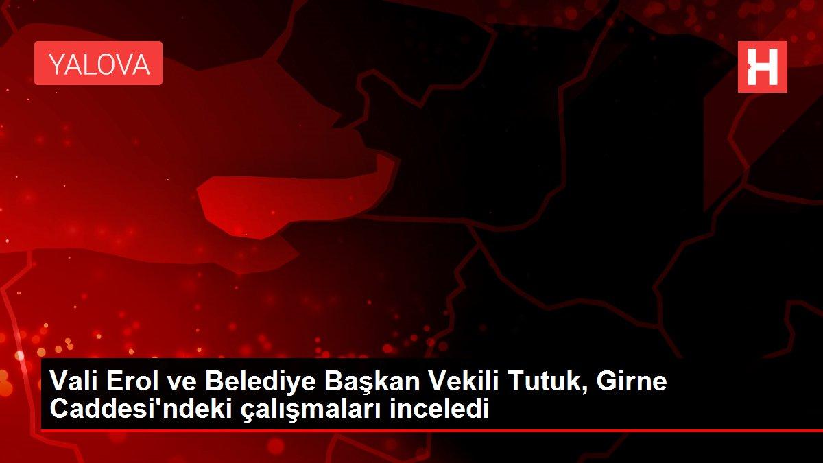 Vali Erol ve Belediye Başkan Vekili Tutuk, Girne Caddesi'ndeki çalışmaları inceledi