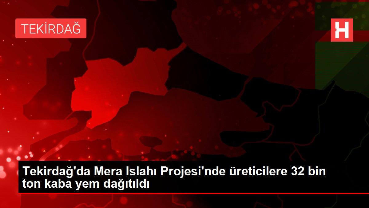 Tekirdağ'da Mera Islahı Projesi'nde üreticilere 32 bin ton kaba yem dağıtıldı