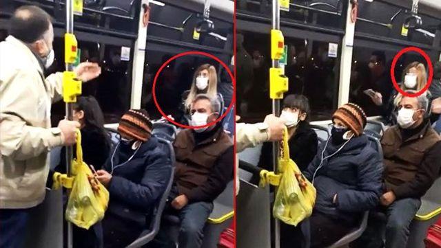 Belediye otobüsünde koronavirüs paniği! Telefonda konuştuğu kişiye testinin pozitif çıktığını söyledi, ortalık karıştı