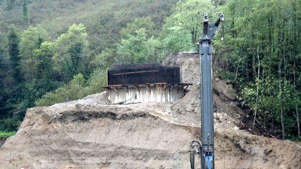 Giresun'da sel riski altındaki şantiyede çalışmalar durduruldu