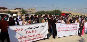 Şengal: Irak'taki Ezidiler, terör örgütü PKK'nın Sincar'daki varlığına karşı gösteri düzenledi