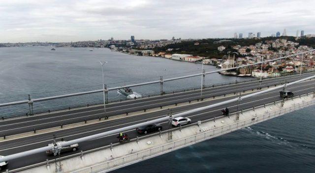 15 Temmuz Şehitler Köprüsü'nde 09.05'te hayat durdu