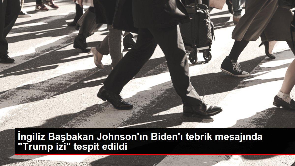 Son dakika haberleri: İngiliz Başbakan Johnson'ın Biden'ı tebrik mesajında 'Trump izi' tespit edildi