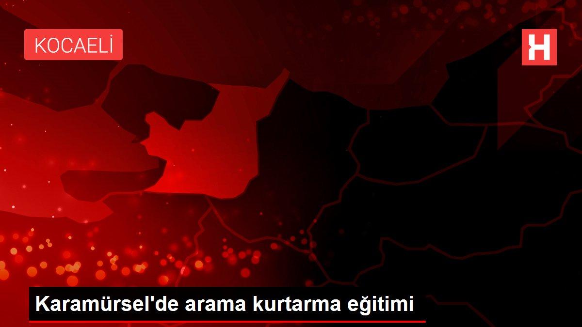 Son dakika haberi... Karamürsel'de arama kurtarma eğitimi