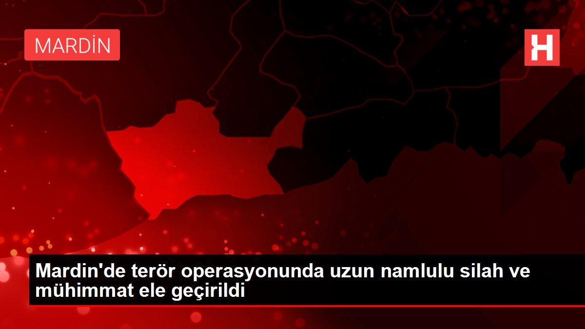 Mardin'de terör operasyonunda uzun namlulu silah ve mühimmat ele geçirildi