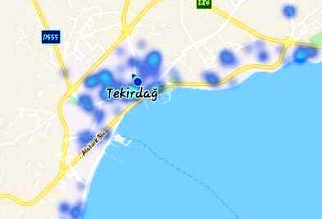 Fahrettin Koca'nın HES uygulamasında örnek gösterdiği Tekirağ'da harita kırmızıya döndü