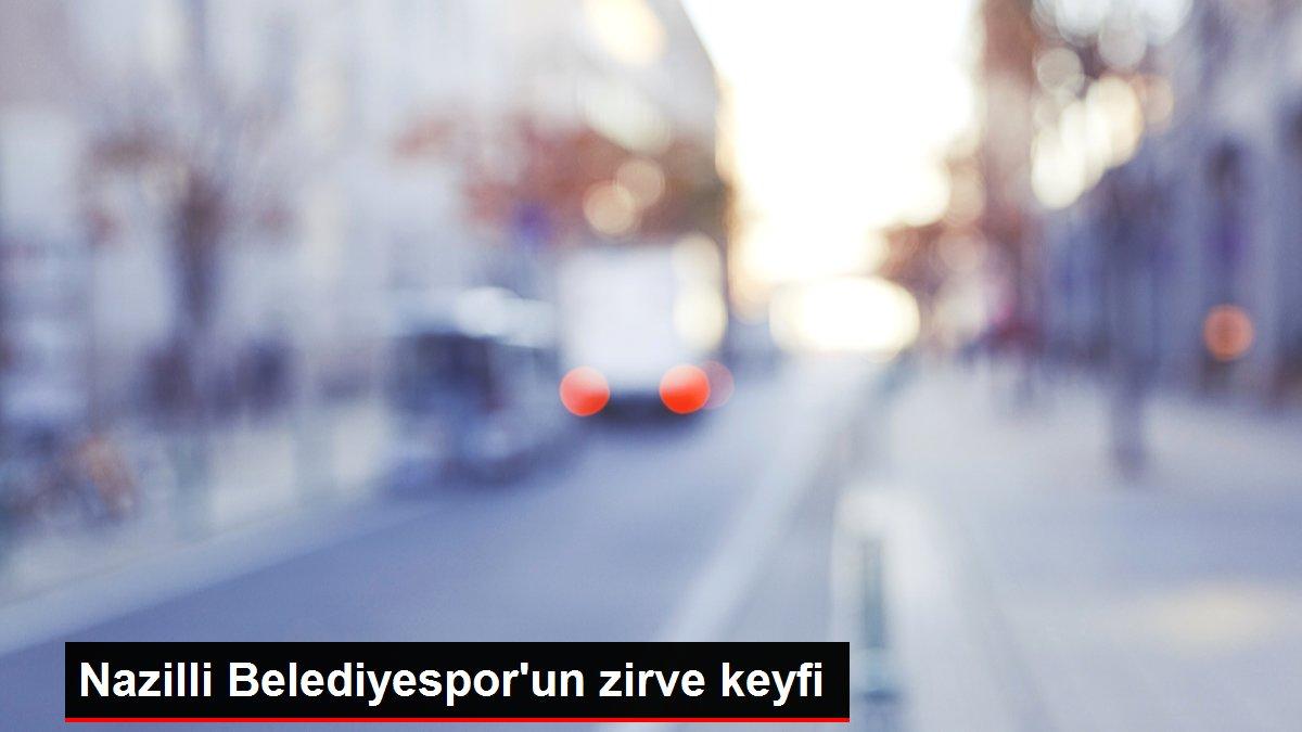 Nazilli Belediyespor'un zirve keyfi