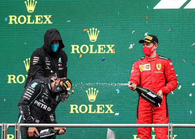 Cumhurbaşkanı Danışmanı iddiayı doğruladı! Formula 1 kutlamalarında şampanya kullanılmadı