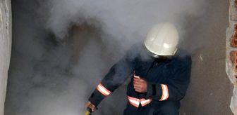 Akpınar: Hasarlı binanın bodrum katı yandı