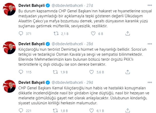 Son Dakika! MHP Lideri Bahçeli'den Kemal Kılıçdaroğlu'na sert tepki: Alaattin Çakıcı benim dava arkadaşımdır