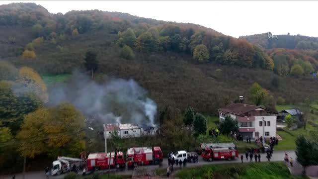 Evde çıkan yangında bir kişi öldü