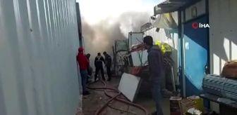 Pelitli: İşçilerin kaldığı konteynerde korkutan yangın