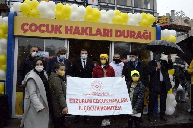 Son dakika haberi! Erzurum'da Çocuk Hakları durağı açıldı